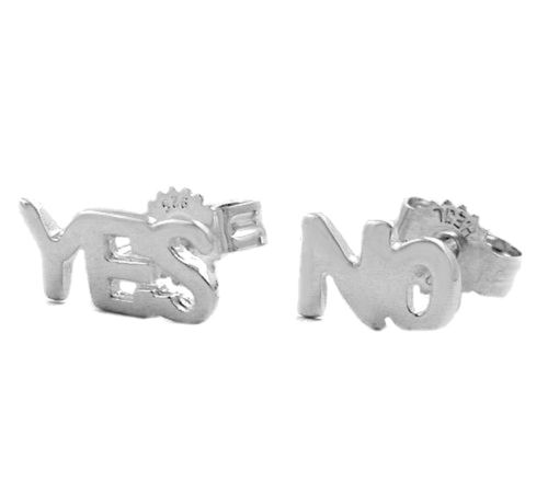 Ohrstecker 925 Silber NO - YES