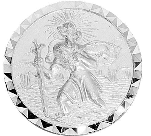 """Autoplakette /""""Christopherus Christophorus /""""  925 Silber 02"""