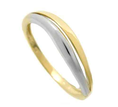 Ring bicolor 333 GOLD