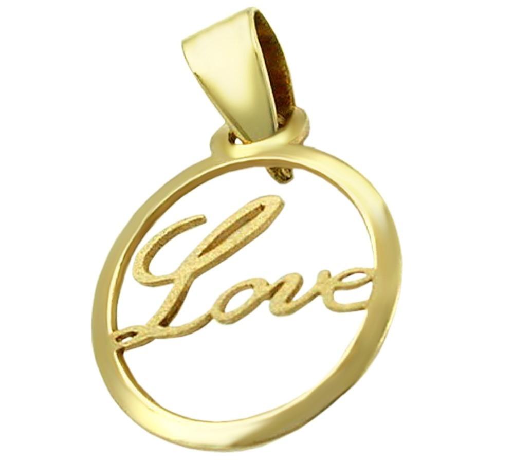Anh nger 375 gold freundschaftsanh nger kreis mit love - 375 gold ...