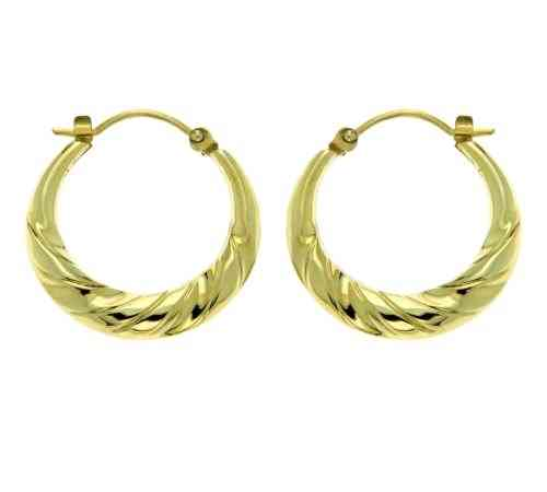 Creole 333 Gold  Ohrringe 20mm