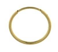 12mm Single - Creole, gelbgold 585 Gold